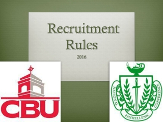 Recruitment Rules