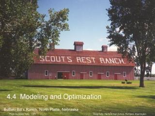 4.4  Modeling and Optimization