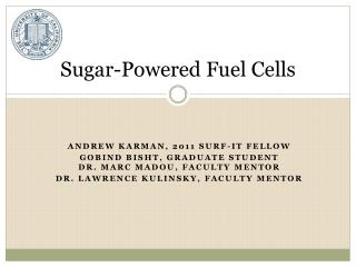 Sugar-Powered Fuel Cells