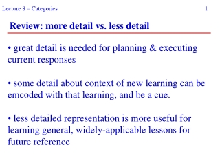 great detail is needed for planning & executing current responses