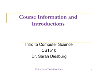 Course Information and Introductions