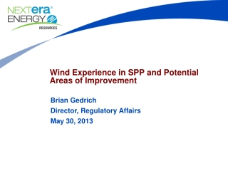 Wind Experience in SPP and Potential Areas of Improvement