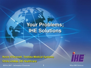 Your Problems; IHE Solutions