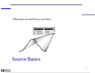 Source Basics