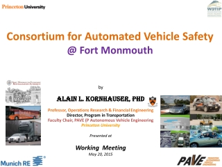 Consortium for  Automated  Vehicle Safety  @ Fort  Monmouth
