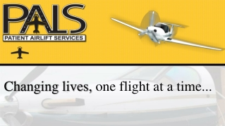 Changing lives,  one flight at a time...