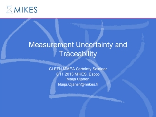 Measurement Uncertainty and Traceability