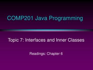 COMP201 Java Programming