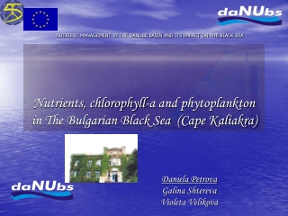 Nutrients, chlorophyll-a and phytoplankton in The Bulgarian Black Sea  (Cape Kaliakra)