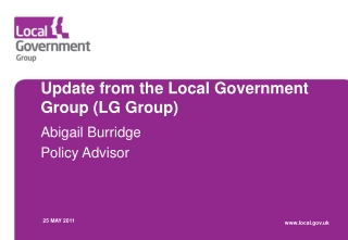 Update from the Local Government Group (LG Group)