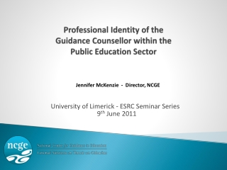 Professional Identity of the  Guidance Counsellor within the  Public Education Sector
