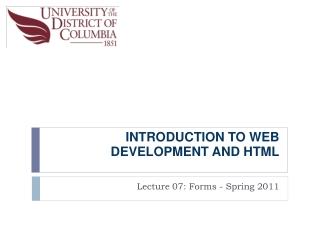 INTRODUCTION TO WEB DEVELOPMENTAND HTML