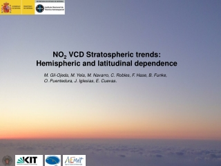NO 2  VCD Stratospheric trends:                      Hemispheric and latitudinal dependence