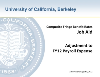 Adjustment to FY12 Payroll Expense – Introduction