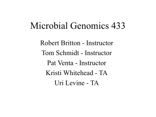 Microbial Genomics 433