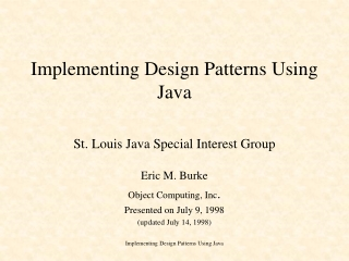 Implementing Design Patterns Using Java