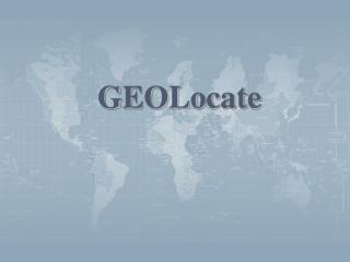 GEOLocate