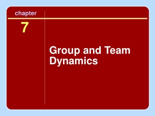 Group and Team Dynamics