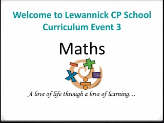 Welcome to Lewannick CP School Curriculum Event 3