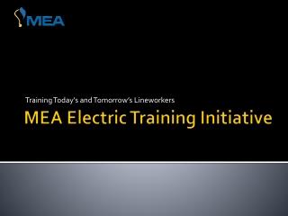 MEA Electric Training Initiative