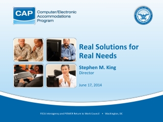 Real Solutions for Real Needs