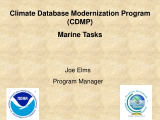 Climate Database Modernization Program (CDMP) Marine Tasks