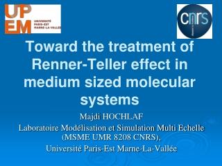 Toward the treatment of Renner-Teller effect in medium sized molecular systems