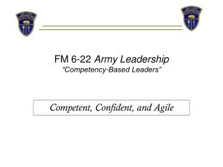 "FM 6-22  Army Leadership ""Competency-Based Leaders"""