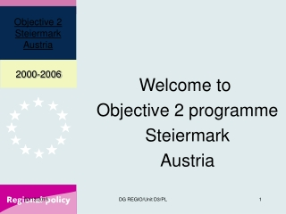 Welcome to  Objective 2 programme Steiermark Austria