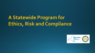A Statewide Program for Ethics, Risk and Compliance