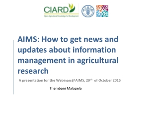 AIMS:  How to get news and updates about information management in agricultural research