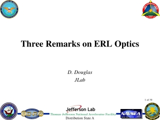 Three Remarks on ERL Optics