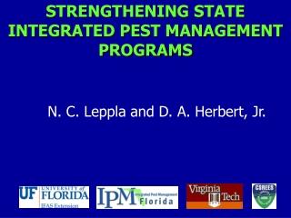STRENGTHENING STATE INTEGRATED PEST MANAGEMENT PROGRAMS