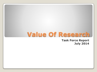 Value Of Research