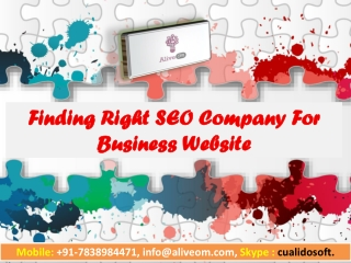 Finding Right SEO Company For Business Website