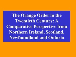 The Orange Order