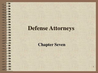 Defense Attorneys
