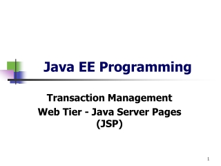 Java EE Programming
