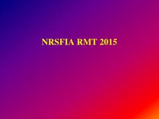 NRSFIA RMT 2015