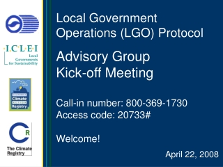 Local Government Operations (LGO) Protocol
