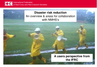 Disaster risk reduction An overview & areas for collaboration with NMHS's