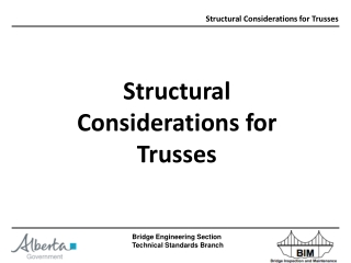 Structural Considerations for Trusses