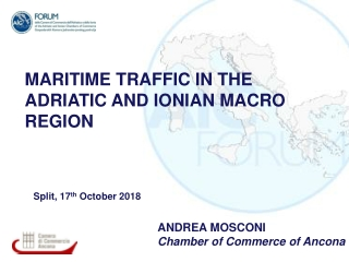 MARITIME TRAFFIC IN THE ADRIATIC AND IONIAN MACRO REGION