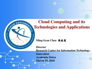 Cloud Computing and its Technologies and Applications