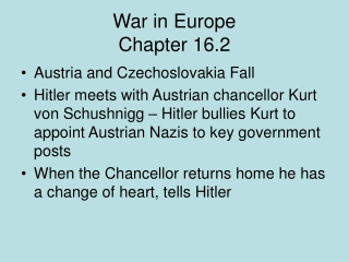 War in Europe Chapter 16.2