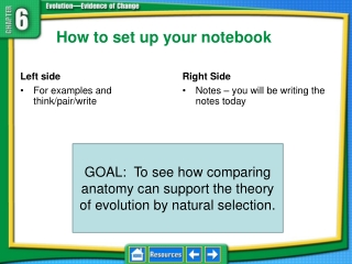 How to set up your notebook