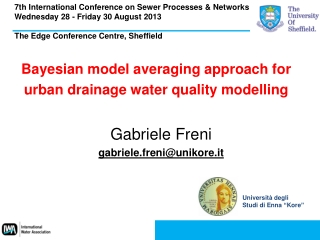 Bayesian  model  averaging approach  for  urban  drainage water  quality modelling