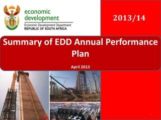 Summary of EDD Annual Performance Plan April 2013