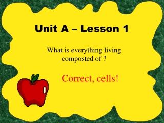 Unit A – Lesson 1