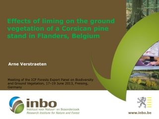 Effects of liming on the ground vegetation of a Corsican pine stand in  Flanders, Belgium